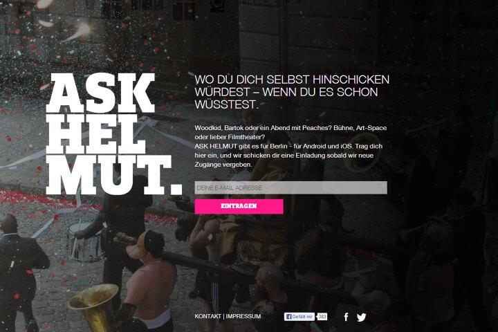 Ask Helmut findet dein Event