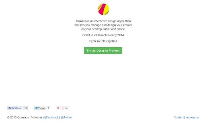Mit Gravit.io können Designer ihre Werke erstellen und verwalten