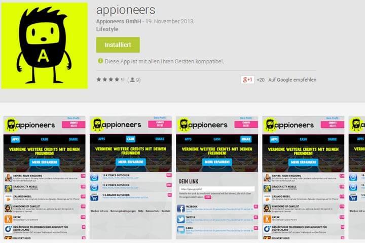 Mit appioneers Apps testen und Prämien einsammeln