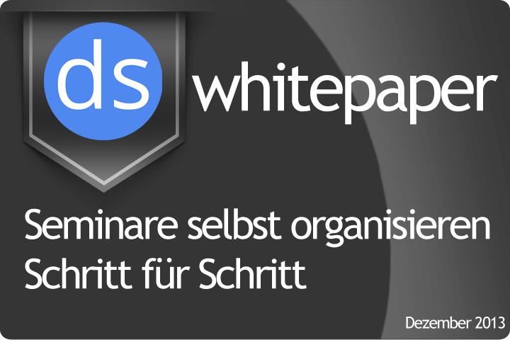 Seminare selbst organisieren – Whitepaper kostenlos herunterladen