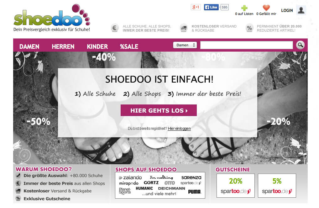 Shoedoo, MeinPlattenvertrag, Regiomino, Flohmi, Termin-App