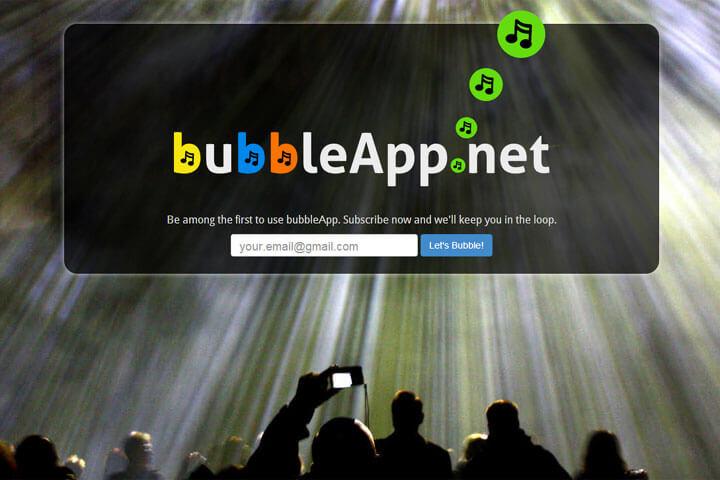 bubbleApp informiert über Events und Ereignisse
