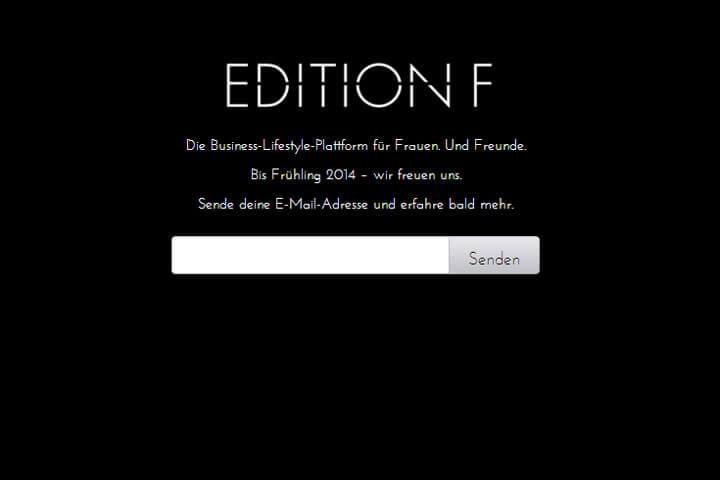 """Edition F ist was """"für Frauen. Und Freunde"""""""