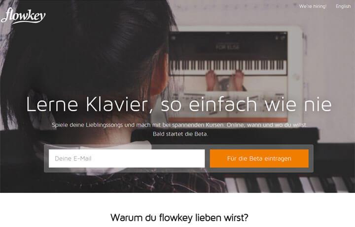 Mit flowkey online Klavier spielen lernen