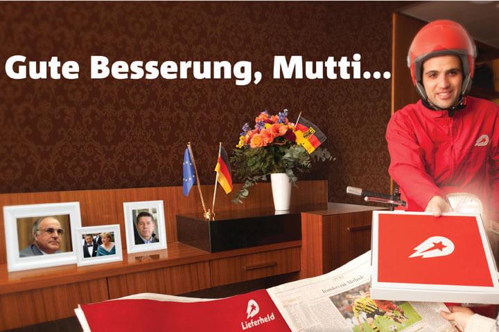 Lieferheld bringt Merkel eine Pizza ans Krankenbett