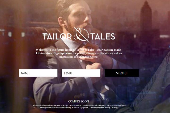 Tailor & Tales bietet maßgeschneiderte Mode für Männer