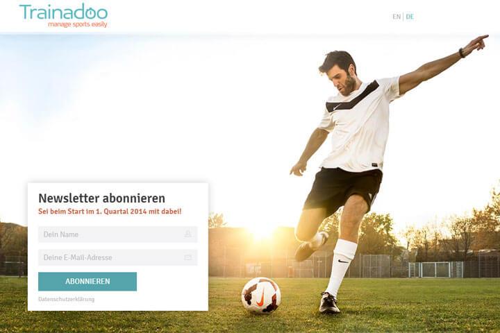 Trainadoo hilft sportliche Aktivitäten zu managen