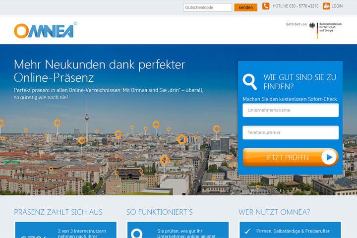 Omnea hilft Unternehmen sich online zu präsentieren