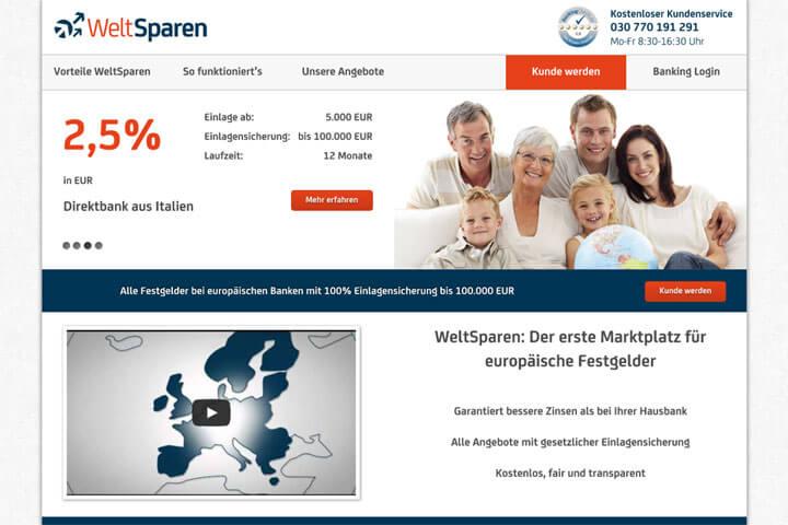 WeltSparen verspricht höhere Zinsen als bei deutschen Banken