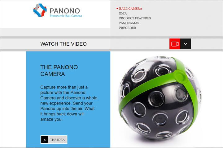Panono-Camera: 1 Wurf, 36 Kameras, fertige 360°-Aufnahme