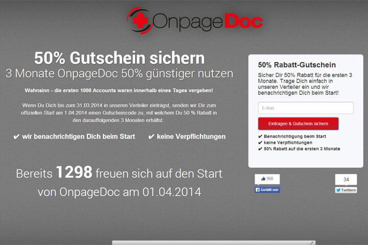 Mit OnpageDoc startet ein neues Onpage-Analyse-Tool