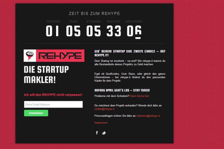 Bei rehype kann man gescheiterte Start-ups verkaufen