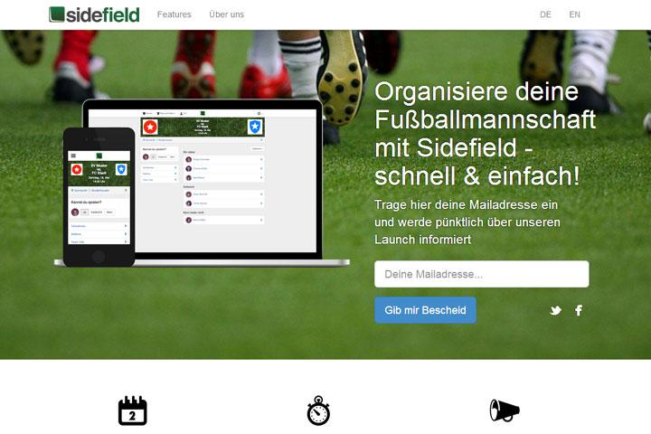 Sidefield organisiert den Fußballverein