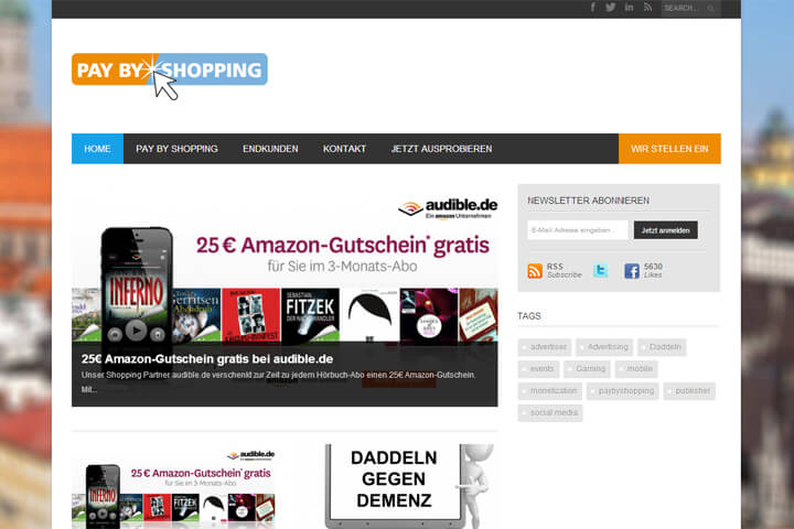 deal united, also Pay by Shopping, ist leider insolvent