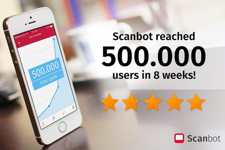 Scanbot begeistert 500.000 Nutzer – in acht Wochen