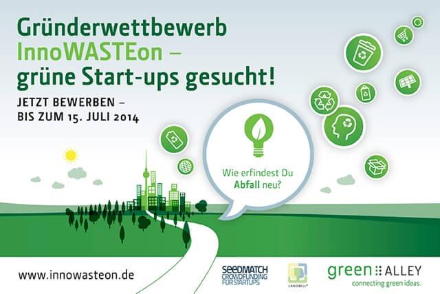Gründerwettbewerb InnoWASTEon bis 15. 7. verlängert! (Anzeige)