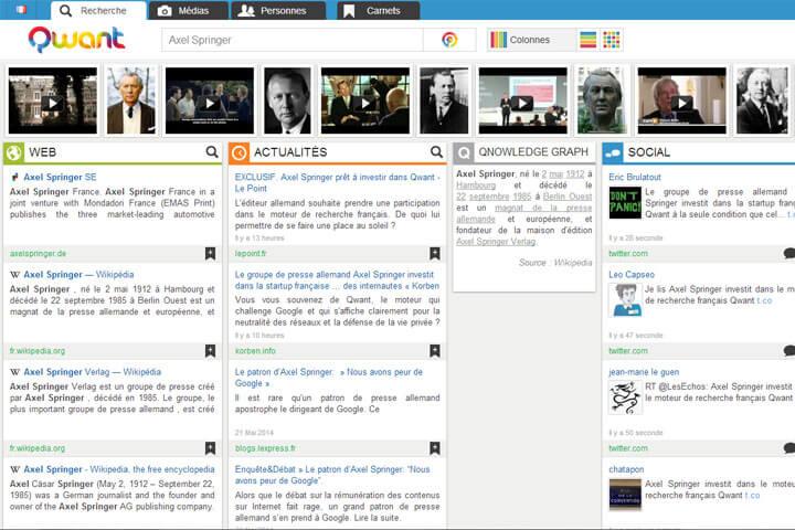 Axel Springer steigt bei Suchmaschine Qwant ein