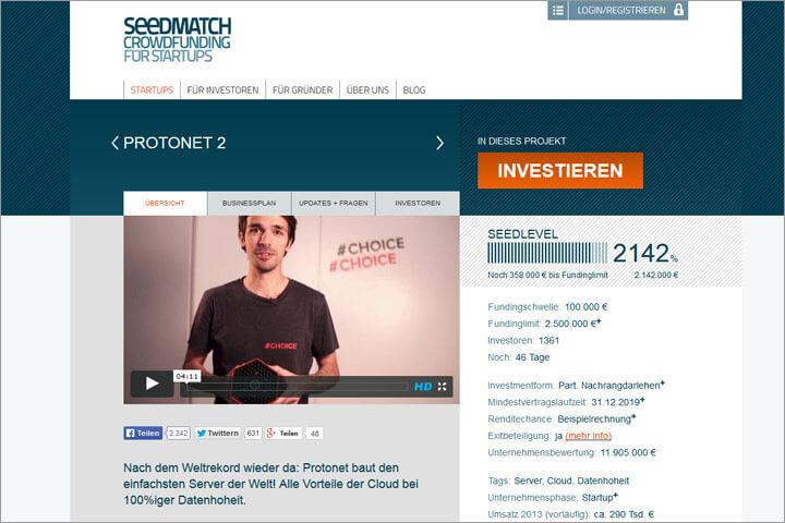 Protonet-Seedmatch-Investition: Für wen lohnt es sich?