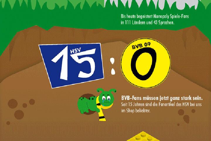 Bei myToys ist der HSV seit Jahren beliebter als der BVB