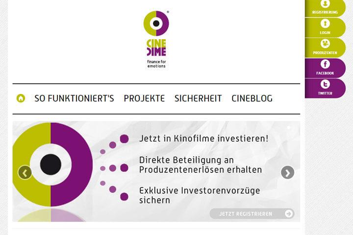 Mit Cinedime in Kinofilme investieren
