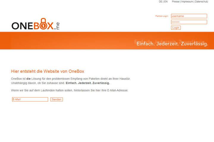 OneBox hilft beim Empfang von Paketen an der Haustür