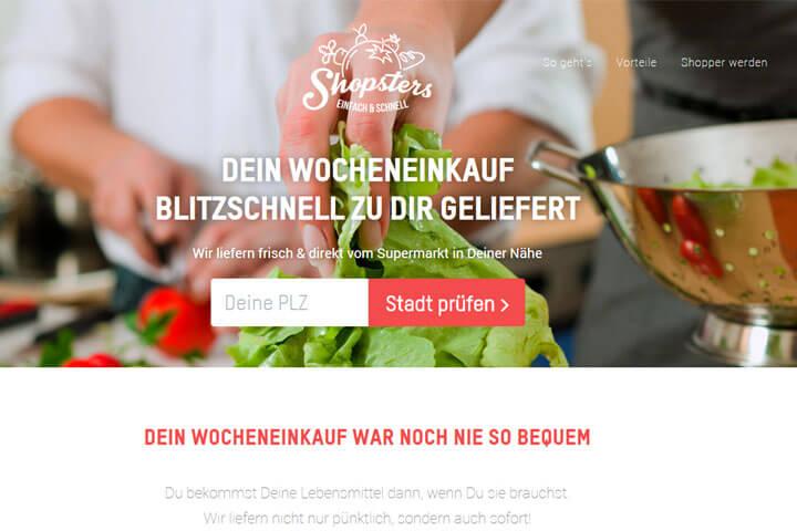 Shopsters liefert Lebensmittel umgehend zum Kunden