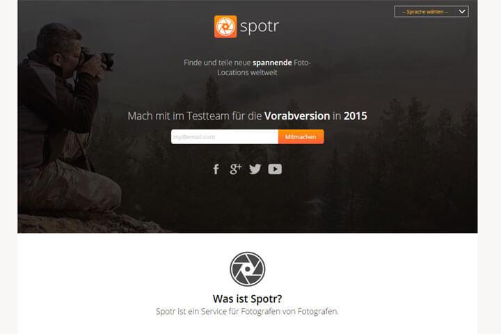 Mit Spotr weltweit spannende Foto-Locations teilen