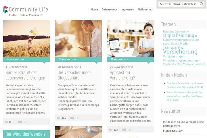 Community Life will den Versicherungmarkt aufmischen