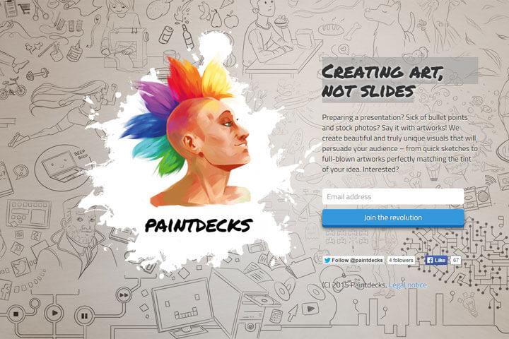 Paintdecks bietet professionell illustrierte Präsentationen