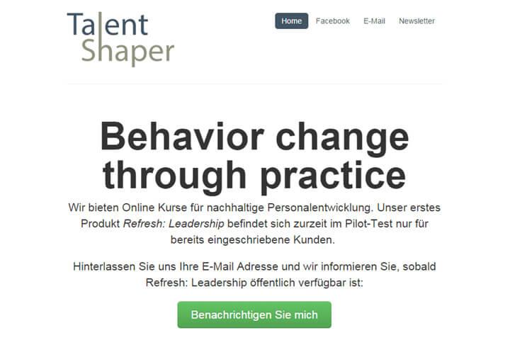 Talent Shaper bietet Kurse für Personalentwicklung