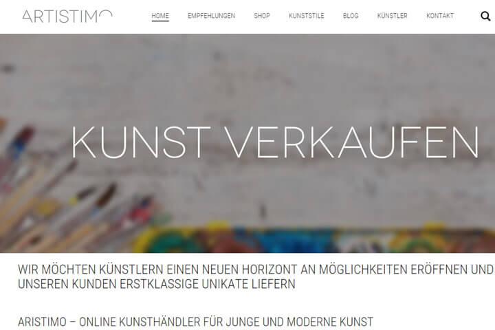 Artistimo bietet junge und moderne Kunst