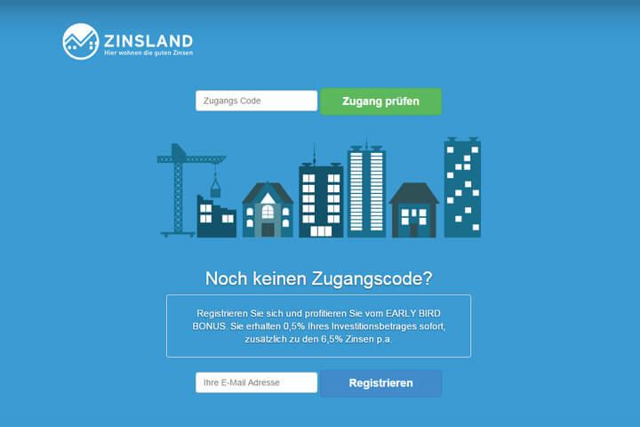 Über Zinsland in Immobilienprojekte investieren