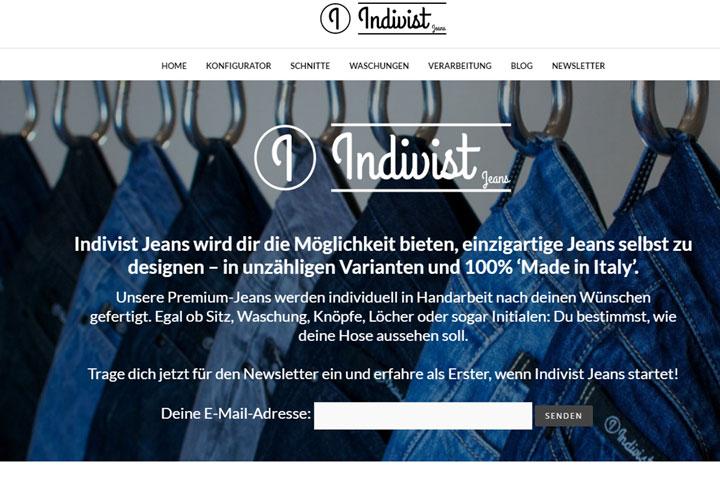 Mit Indivist Jeans die eigene, individuelle Jeans designen