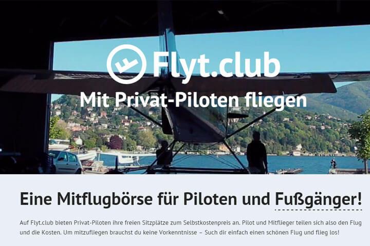 Auf Flyt.Club kommen Privat-Piloten und Laien zusammen