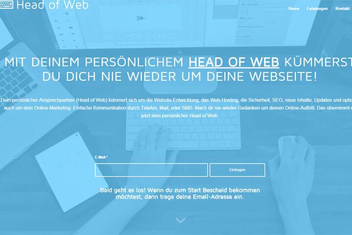 Head of Web kümmert sich um den Auftritt von Unternehmen