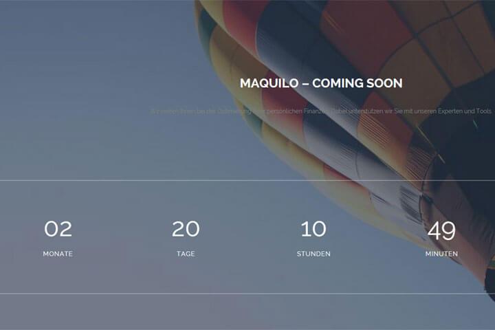 Maquilo macht Finanzplanung für jeden bezahlbar