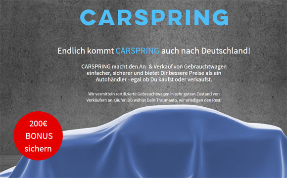 Rocket Internet holt Carspring nach Deutschland