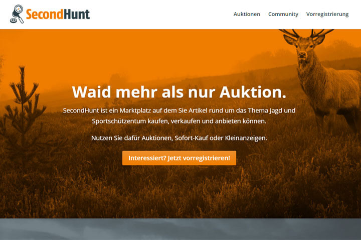 SecondHunt richtet sich an Jäger und Sportschützen