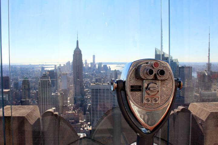 Hoch hinaus und Start-up-Luft in New York schnuppern