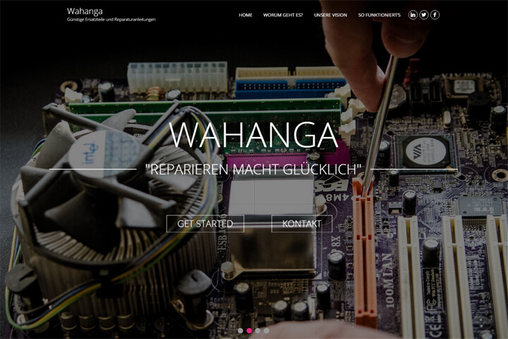 Wahanga bietet Ersatzteile und Reparaturanleitungen