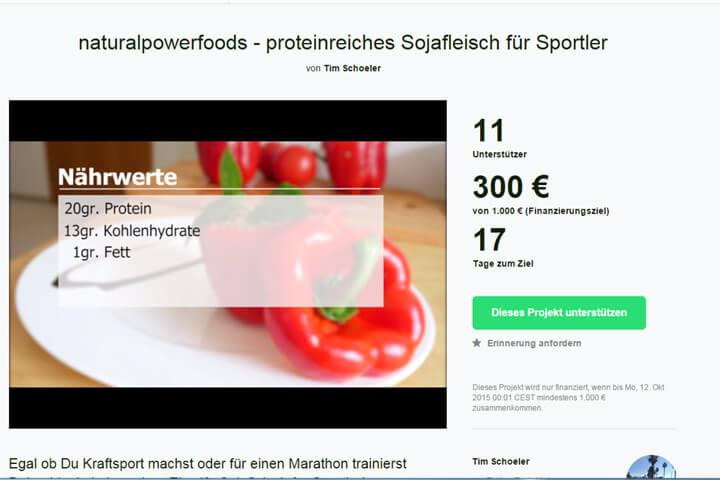 naturalpowerfoods– Fleischlose Nahrung für Sportler