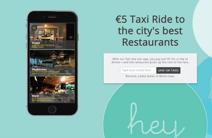 Mit HeyRide günstig zum Essen im Restaurant fahren
