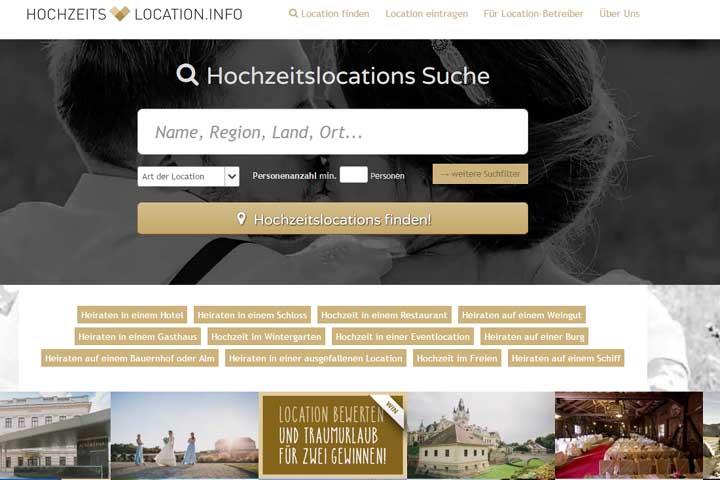 hochzeits-location.info startet durch – ebenso myFinish und Kolorat