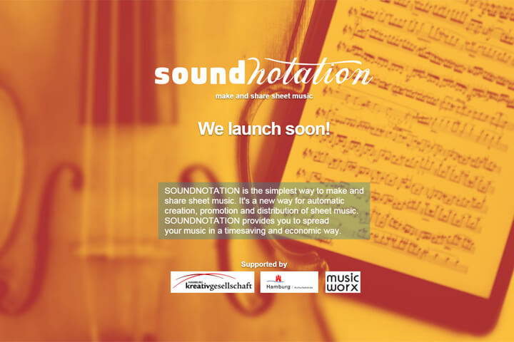 Soundnotation – ein Vermarkter für digitale Noten