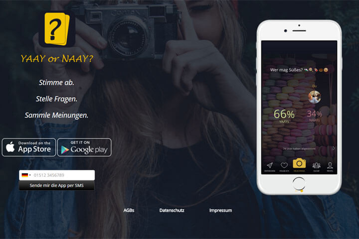 Apps im Tinder-Style: Yaay or Naay, swipybay, Yoloci
