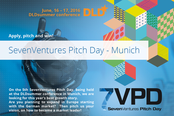 SevenVentures Pitch Day zieht zur DLD nach München
