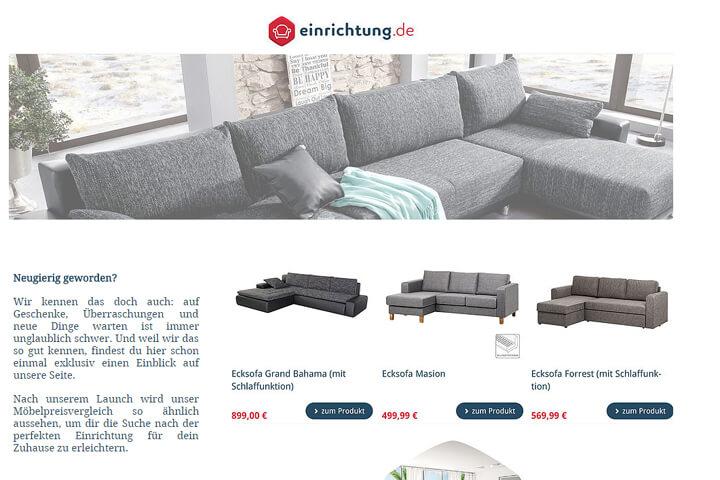 einrichtung.de – ein Preisvergleich für Sofa und Co.