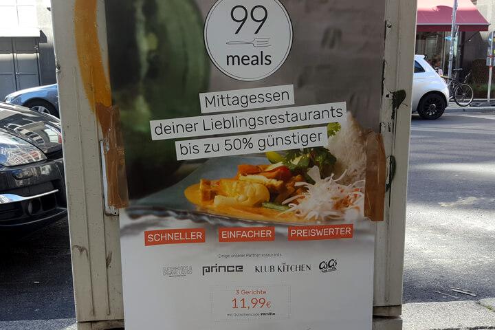 99meals – ein Food-Rabatt-Dienst ohne Lieferung
