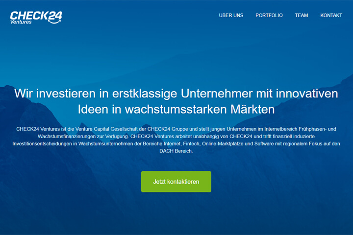 Check24 investiert mit Check24 Ventures nun in Start-ups