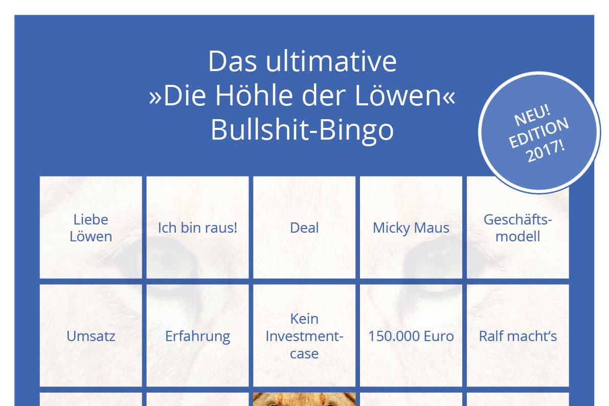 Jetzt noch besser: 'Die Höhle der Löwen'-Bullshit-Bingo